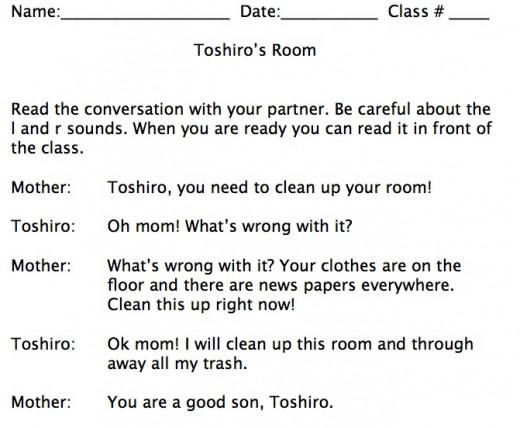 Toshiro's Room Script.