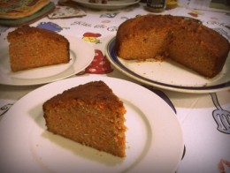 slices of carrot cake, yumm!