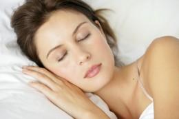 Model pretending to sleep. Perchance to dream.