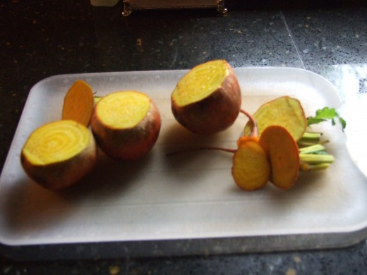 Yellow beets? Yes, just as yummy as the ruby red!