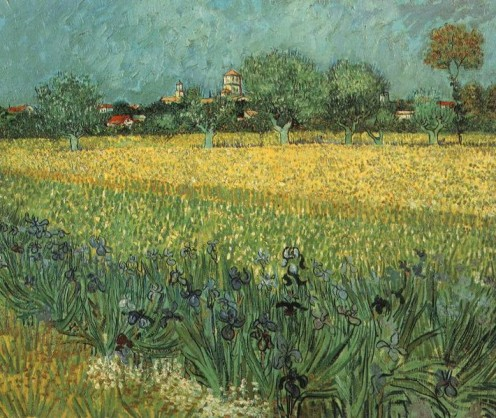 View of Arles with Irises   1889