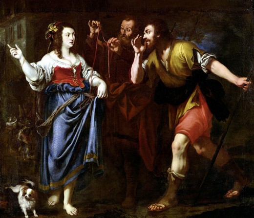 """""""Rahab and The Emissaries of Joshua"""" Artist Unknown"""