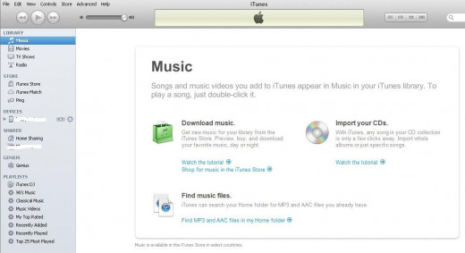 Select the name of your device beneath Devices on the left side of the iTunes program window.