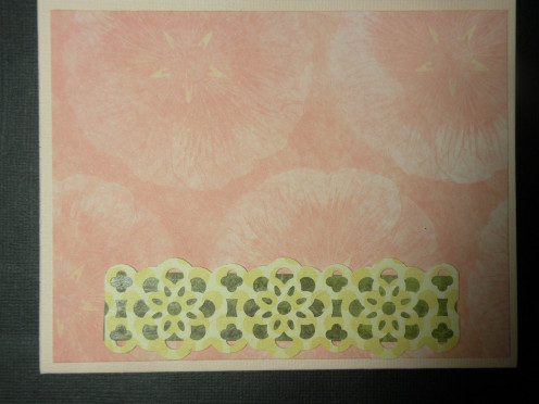 Lacy border layers adhered