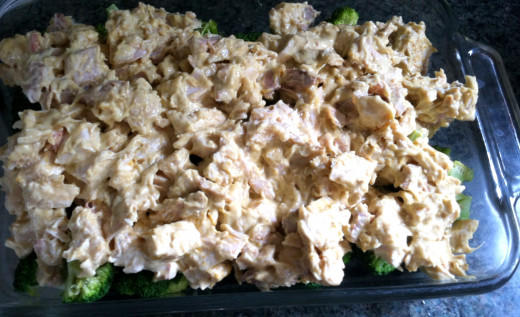 Add the chicken mixture
