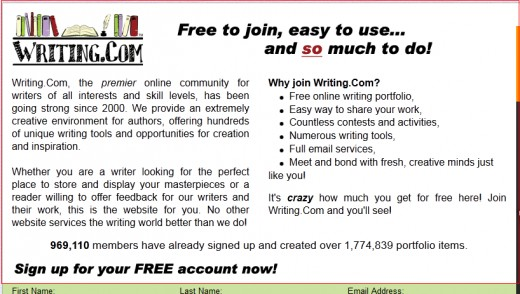 Writers - this one is just for you.  This site is filled with many useful resources and it allows you to build a free portfolio - nice!