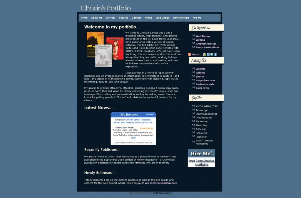 free online writing portfolio