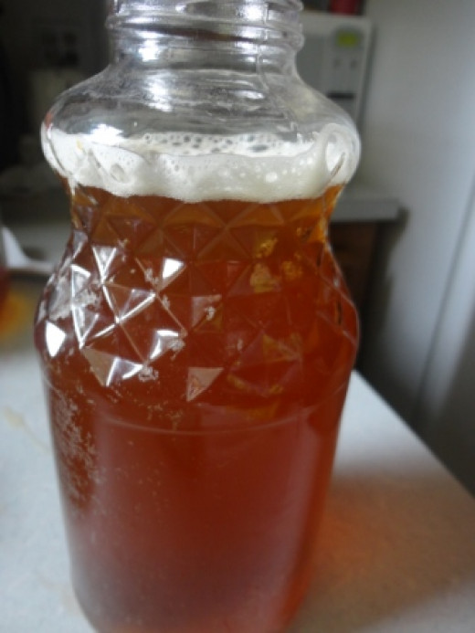 Homemade Kombucha tea