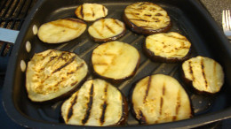 The grill marks give the eggplant great flavor and pizazz.