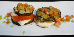 House-Grilled Eggplant Panini with Cheese and Tomatoes