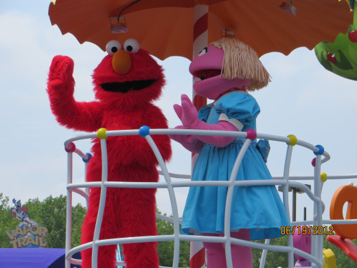 Elmo and a friend