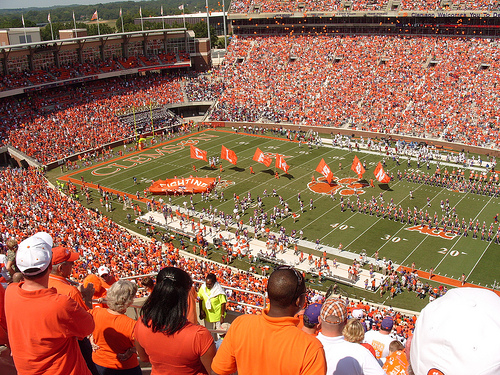Clemson stadium, known at Death Valley.