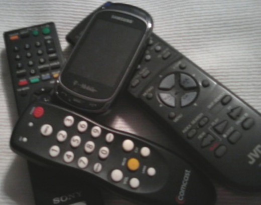 Too many remote controls, with too many buttons. It's enough to confuse anybody.