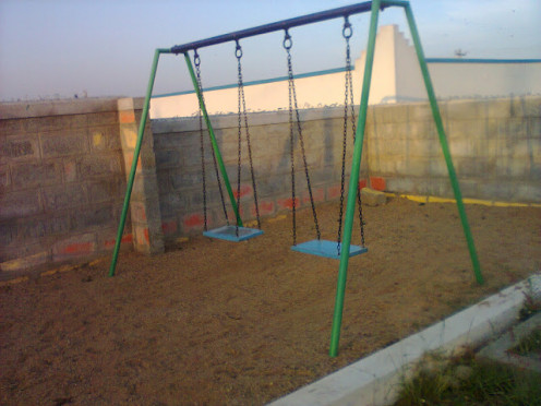 SEE THE WIDTH & LENGTH OF THIS AREA WHERE THIS SWING IS KEPT.