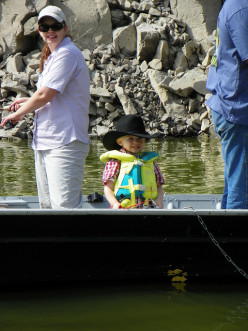 This little boy proves that fishing is not just for adults.