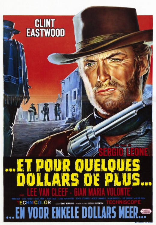 For a Few Dollars More 1965 French poster