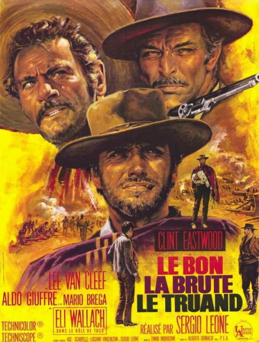 The Good the Bad and the Ugly (1966) French poster