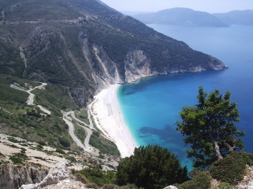 The picturesque Myrtos bay, Kefalonia