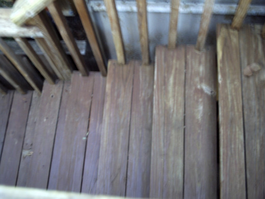 Particularly the steps had stain still left on them after the powerwash