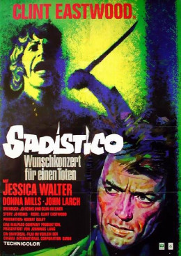 Play Misty for Me 1971 German poster