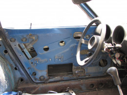 Interior shot after the removal of the driver's side door!