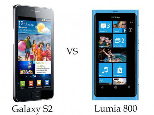Galaxy S2 vs Lumia 800
