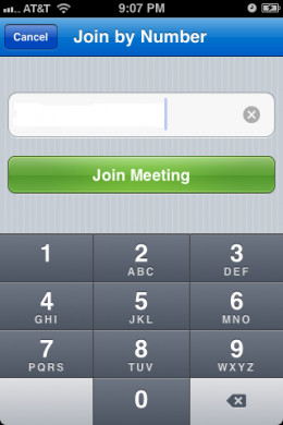 Enter the meeting number.