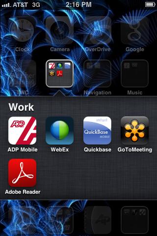 Tap the WebEx app.