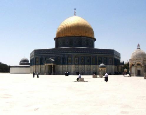 "The beautiful dome, ""Qubit il Sakhra""."