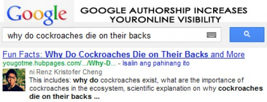 With Google Authorship, you increase your chances of getting found online!