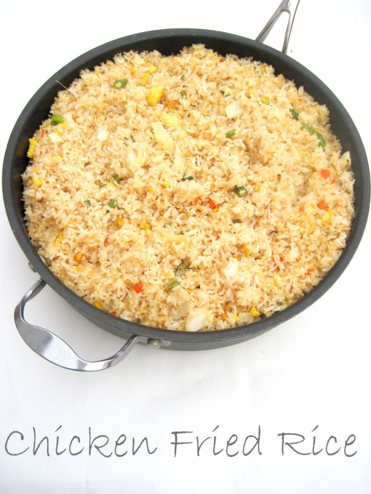 This is a generic pictue of chicken fried rice.