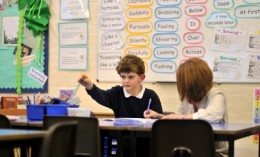 Teaching assistants work with groups or individual children.