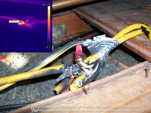 dangers of melted wires