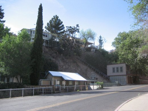 Many of Bisbee's homes are only accessible by climbing flights of stairs.