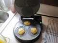 drop onto hot pizzelle iron, shut the lid and cook for a a few minutes, depending on texture likeability factor