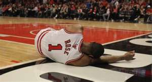 Derrick Rose down from one of his injuries