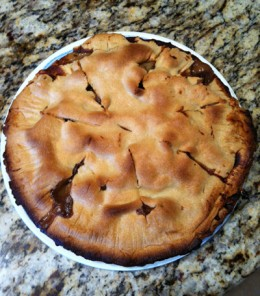 Steak and Ale Pie, after someone pulled off some of the buttery-flavored crust and ate it!