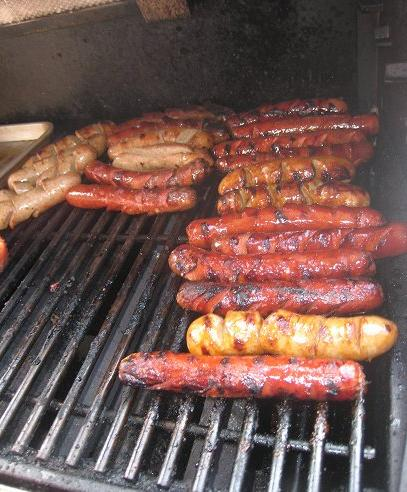 Wrap Your Hot Dogs Tightly With Bacon And Then Grill The Bacon Wrapped Hot Dogs On The Grill.