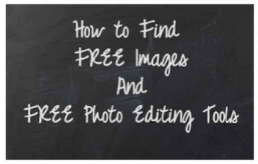 How to find free online photo editing tools and images