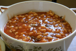 add can of baked beans