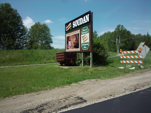 When you see this sign, you are close to the Soudan mine