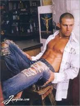 Channing as male model prior to acting career