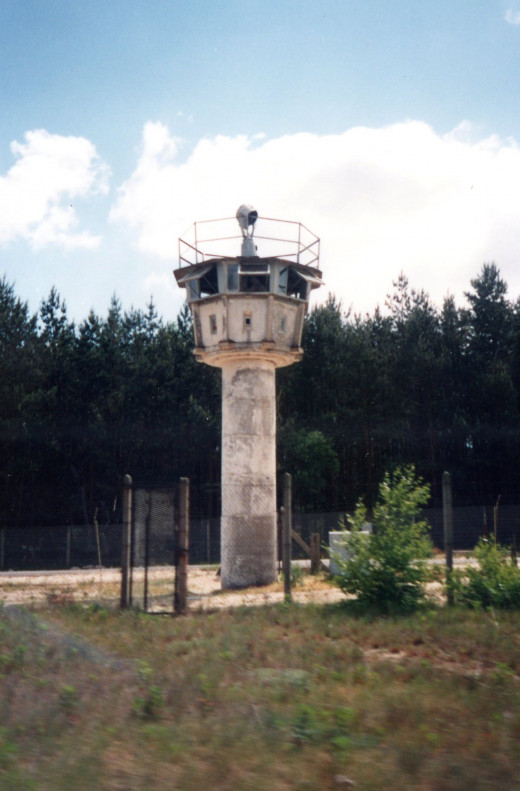 Empty guard tower, 1990.