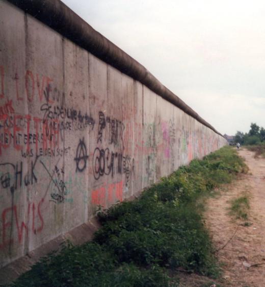 The Berlin Wall, 1988.