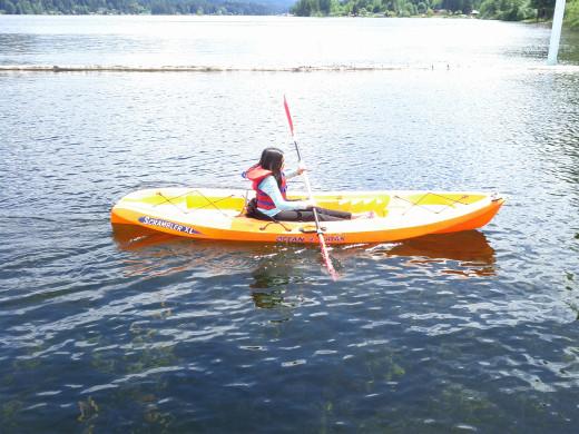 Kayaking at Shawnigan Lake on Vancouver Island
