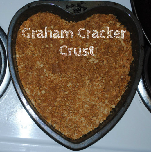 Graham cracker crust ready for the filling to be added.