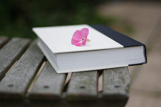 Book with a flower
