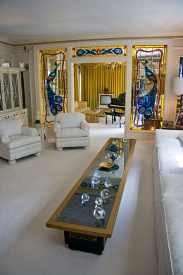My living room will never look as tidy as the one at Graceland.