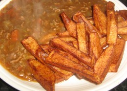 Mince Stew and chips