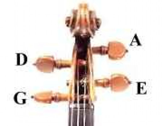 Which pegs tune which strings?
